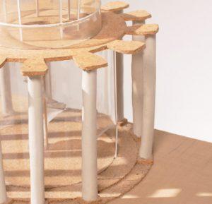 Observatorio Picabia. Recreación constructiva.